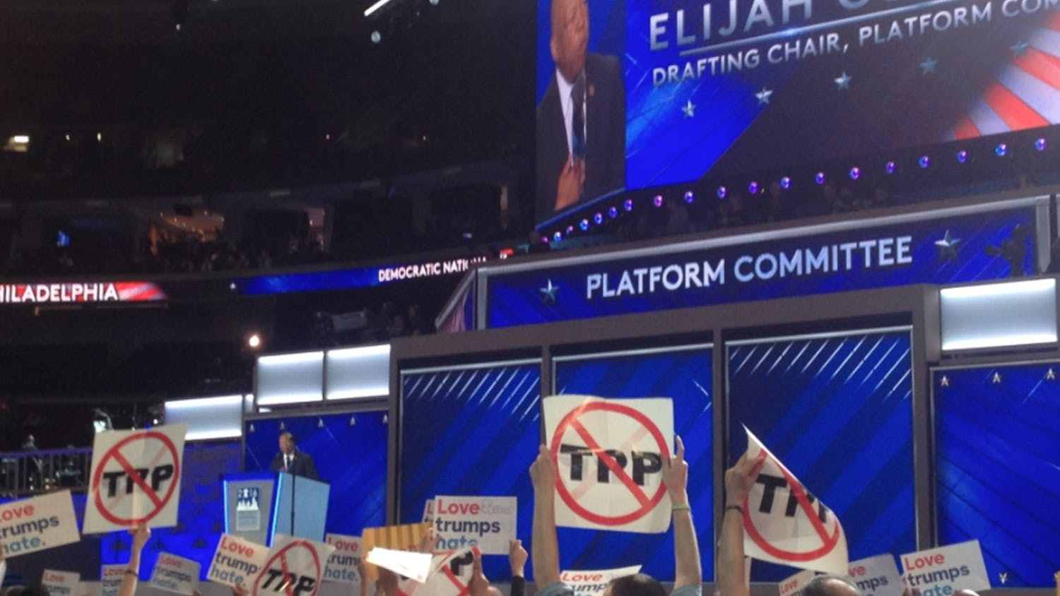 Maryland Congressman Elijah Cummings speaks on the first day of the Democratic National Convention in Philadelphia on July 25, 2016.
