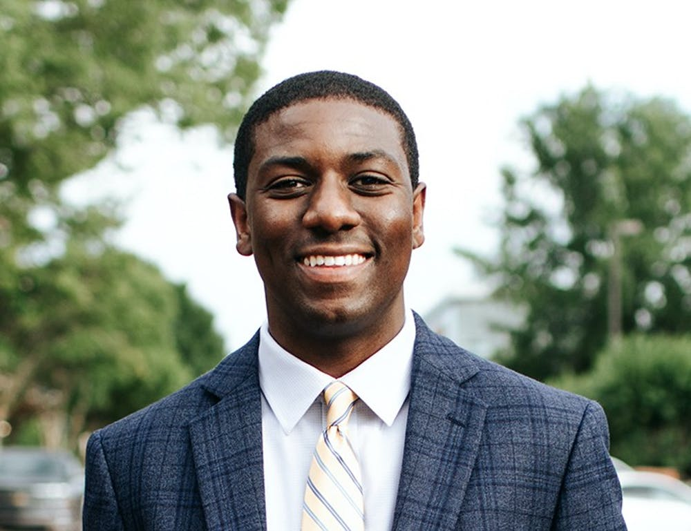 <p>&nbsp;Headshot of Taylor Wright, USC's student body president for the 2018-2019 school year. In his letter, Wright reflects on the Russell House renovation, special campus guests, Student Government programs and changes within sports experiences.&nbsp;</p>