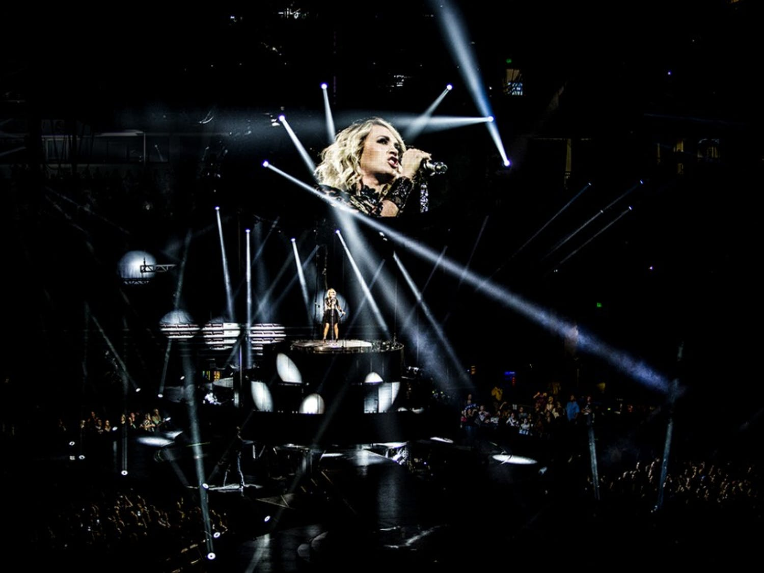 Carrie Underwood performed old classics as well as newer material to a large crowd at the Colonial Life Arena.