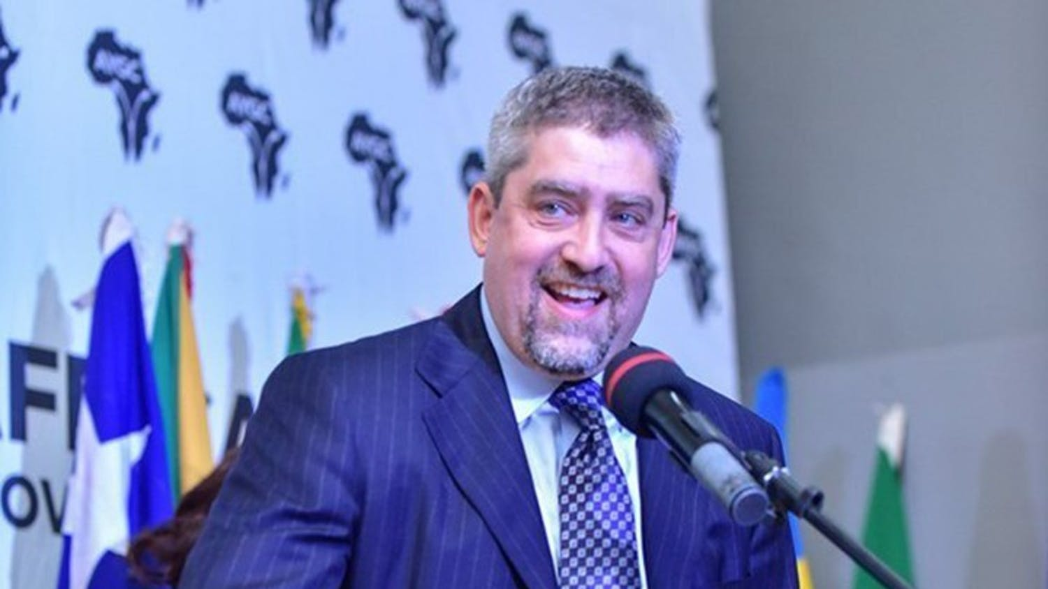 Joel Samuels delivers the keynote address at the African Youth and Governance Convergence (2019) in Accra, Ghana.