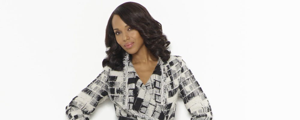 <p>White and black are the most frequented colors in Olivia Pope's style palette, often channeled through a classic peacoat or blazer.</p>