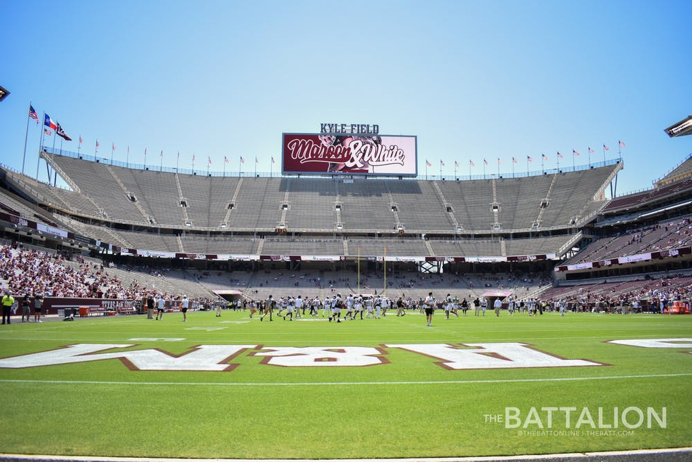 <p>Kyle Field, located on the campus of the Texas A&amp;M University in College Station, Texas, is home to the Texas A&amp;M Aggies football team.</p>