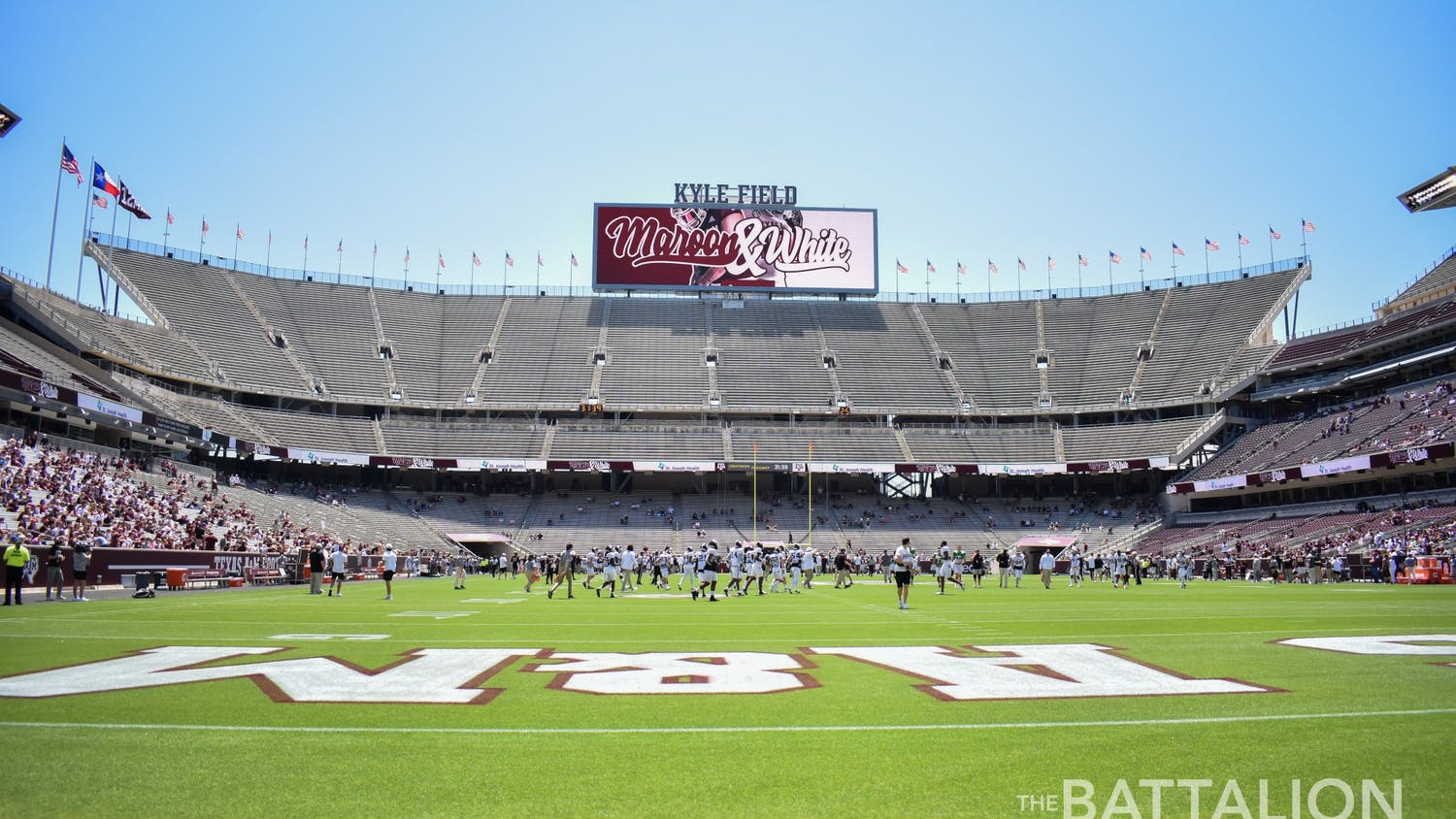 Kyle Field, located on the campus of the Texas A&M University in College Station, Texas, is home to the Texas A&M Aggies football team.