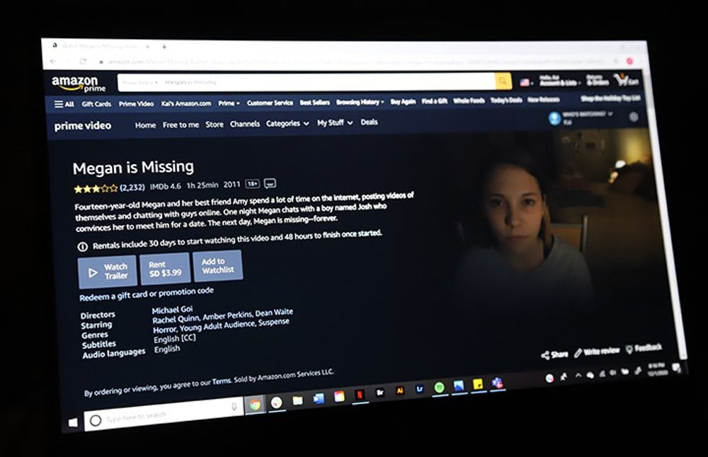 "<p>&nbsp;""Megan Is Missing"" is a horror/thriller about a 14-year-old girl who goes missing when she meets a boy for a date. The movie is available on Amazon Video and YouTube.&nbsp;</p>"