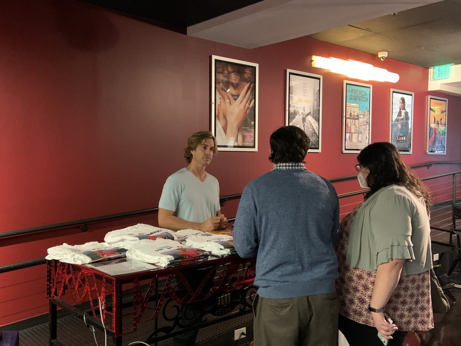 Greg Sestero at a meet and greet before the movie, at The Nickelodeon Theatre.