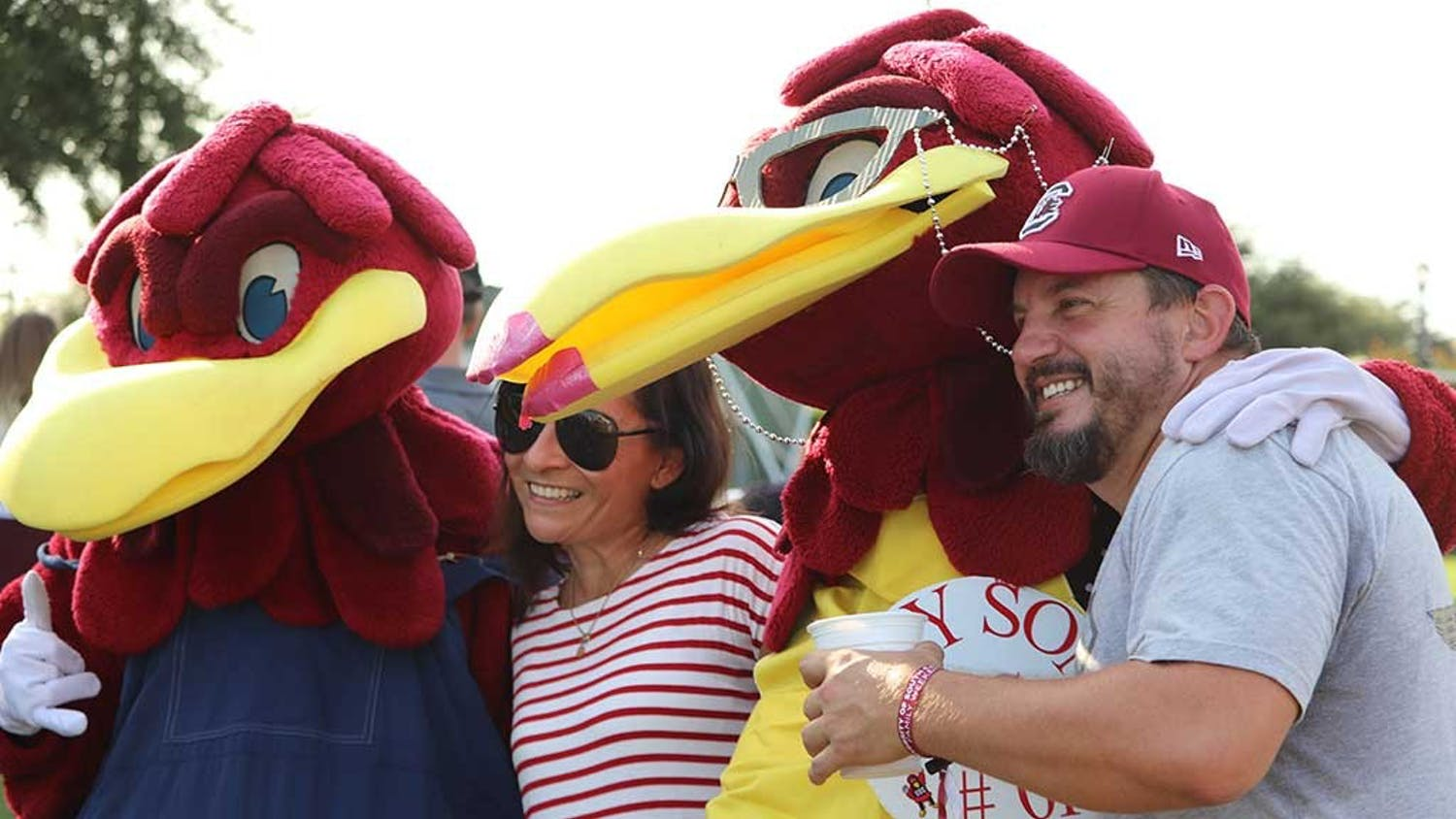 Gamecock families meet Cocky's family at the USC Family Weekend Tailgate Party.