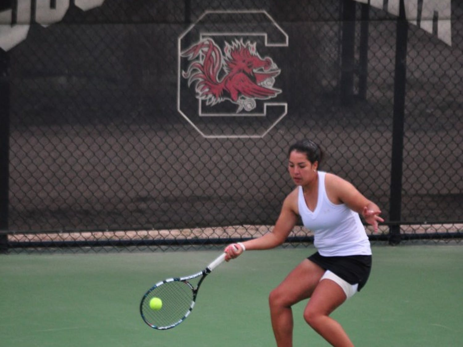 Freshman Ximena Siles Luna won her match at No. 5 singles against Ole Miss.