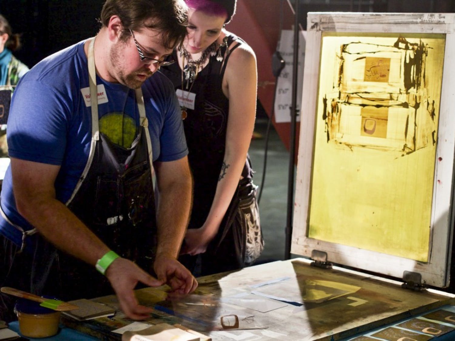 Arts and Draughts showcased art, local restaurants and live music in spite of heavy downpours, drawing alarge crowd.