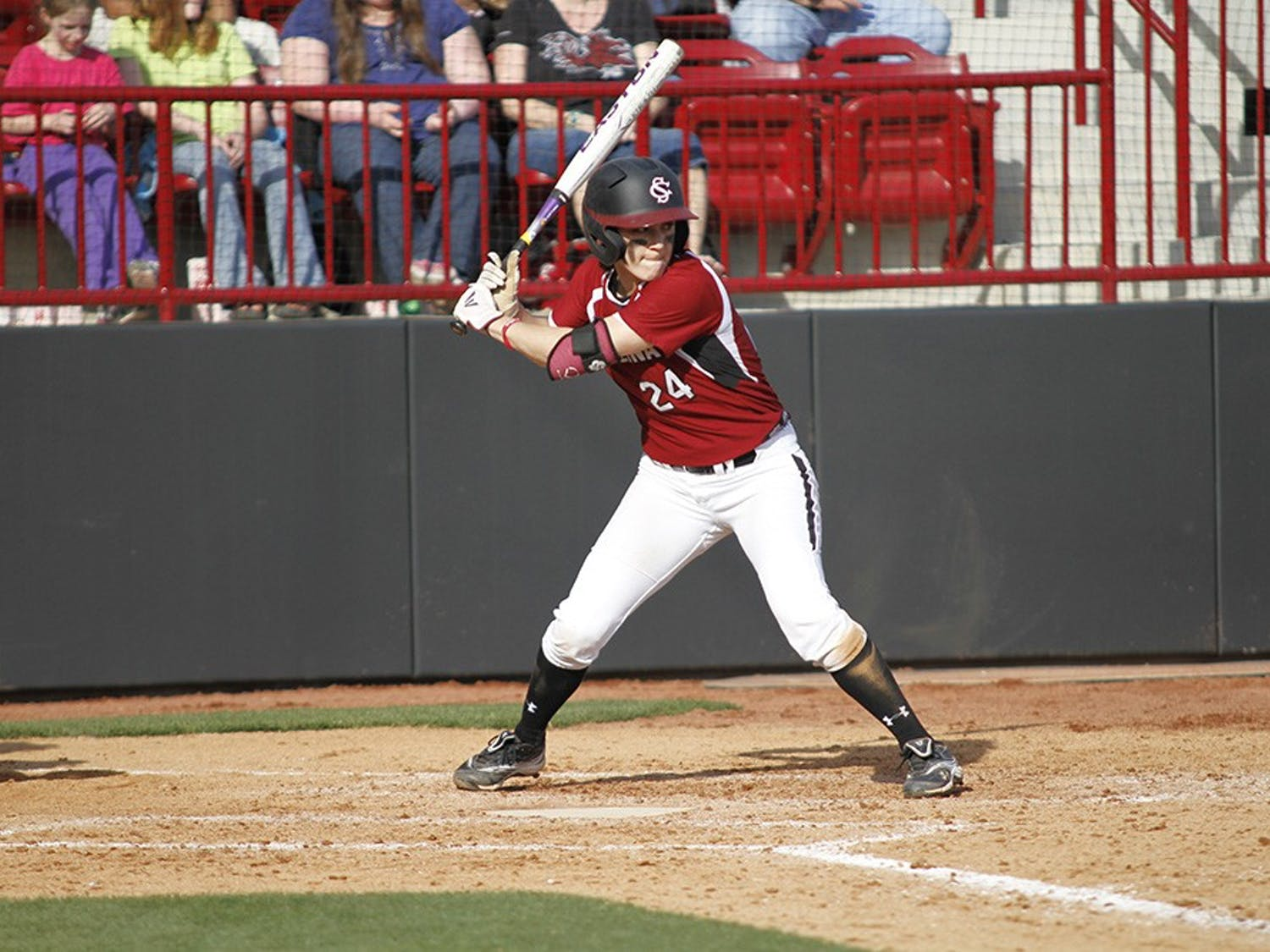 Junior Dana Hathorn reached base in all four of her at-bats in Sunday's 5-4 loss to the Wildcats. She was hit by a pitch once.