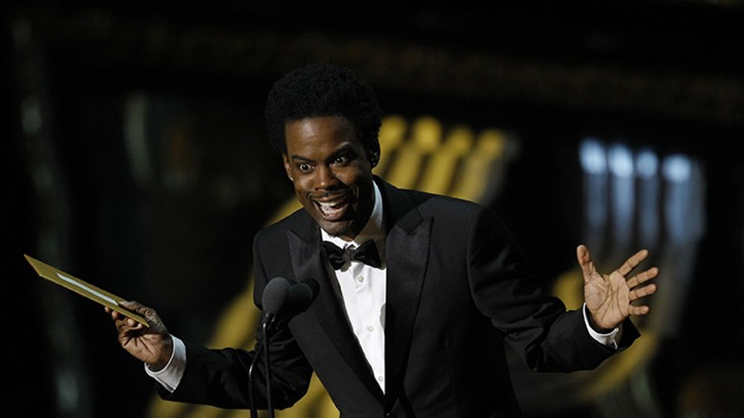 Presenter Chris Rock on stage at the 84th Annual Academy Awards show at the Hollywood and Highland Center in Los Angeles, California, on Sunday, February 26, 2012. (Robert Gauthier/Los Angeles Times/MCT)