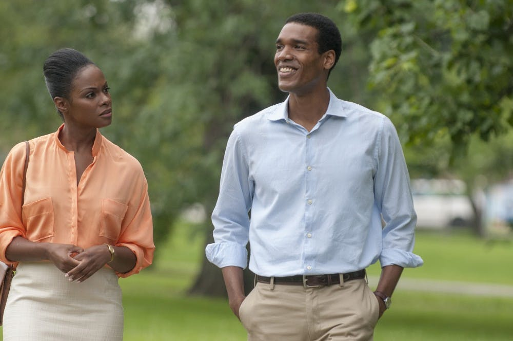 """Tika Sumpter and Parker Sawyers in """"Southside with You."""" (Matt Dinerstein/Miramax/Roadside Attractions)"""