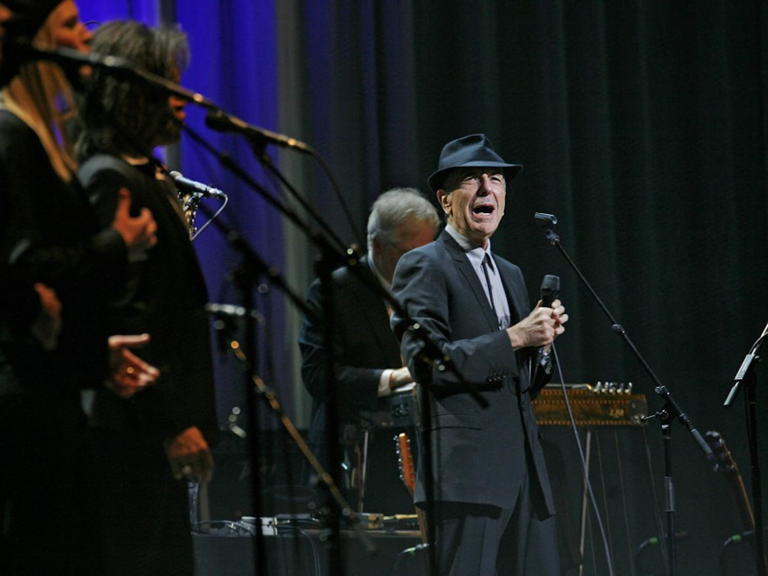 Leonard Cohen performs at the Beacon Theater in New York on February 19, 2009. Cohen, a singer-songwriter whose literary sensibility and elegant dissections of desire made him one of popular music's most influential and admired figures, died on Thursday, Nov. 10, 2016, at 82. (Carolyn Cole/Los Angeles Times/TNS)