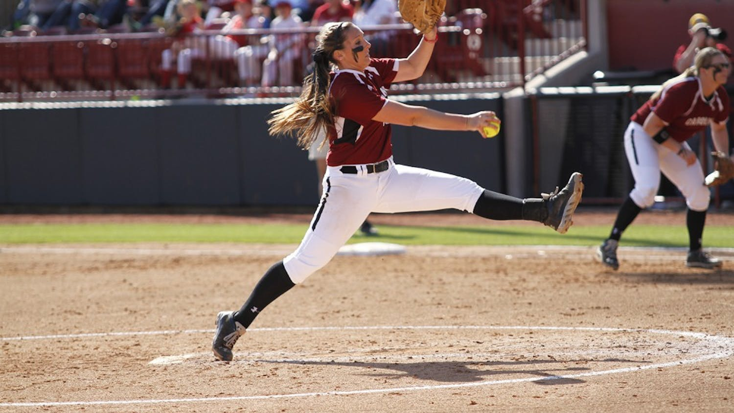 USC pitcher Julie Sarratt allowed just five hits and two runs in the Gamecocks' loss to Georgia on Sunday.