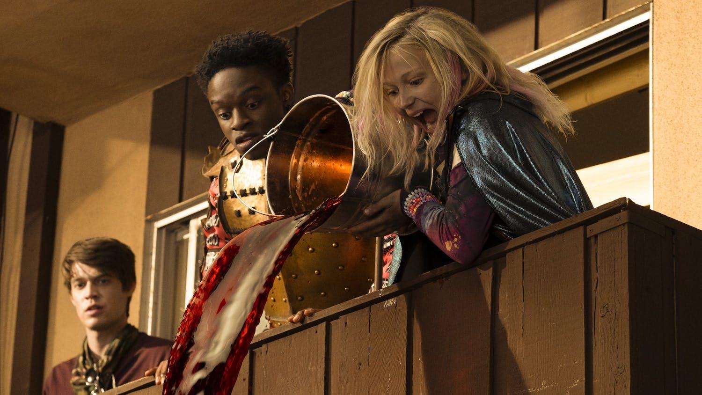 "Colin Ford, Austin Crute, Alyvia Alyn Lind in ""Daybreak"" on Netflix. (Ursula Coyote/Netflix/TNS)"