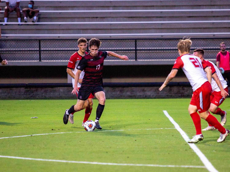 Men's Soccer: Carolina wins 1-0 against Gardner-Webb on Tuesday, Sept. 28.