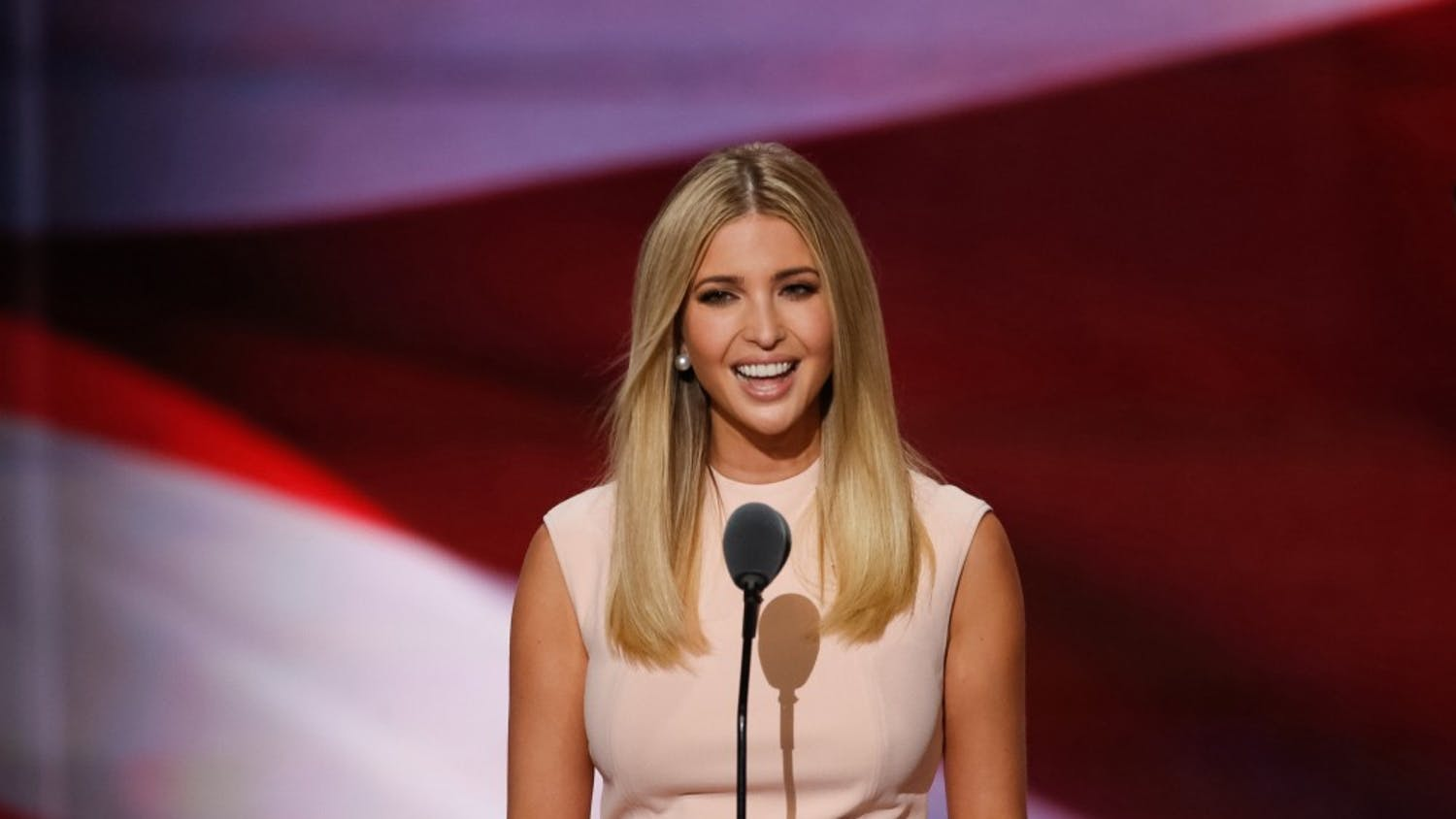 Ivanka Trump speaks during the last day of the Republican National Convention on Thursday, July 21, 2016, at Quicken Loans Arena in Cleveland. (Carolyn Cole/Los Angeles Times/TNS)