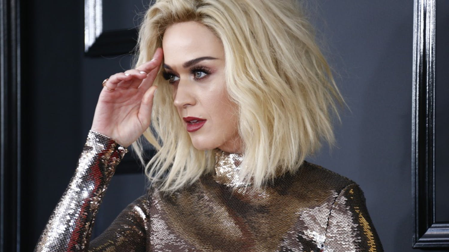 Katy Perry during the arrivals at the 59th Annual Grammy Awards at Staples Center in Los Angeles on Sunday, Feb. 12, 2017. (Marcus Yam/Los Angeles Times/TNS)