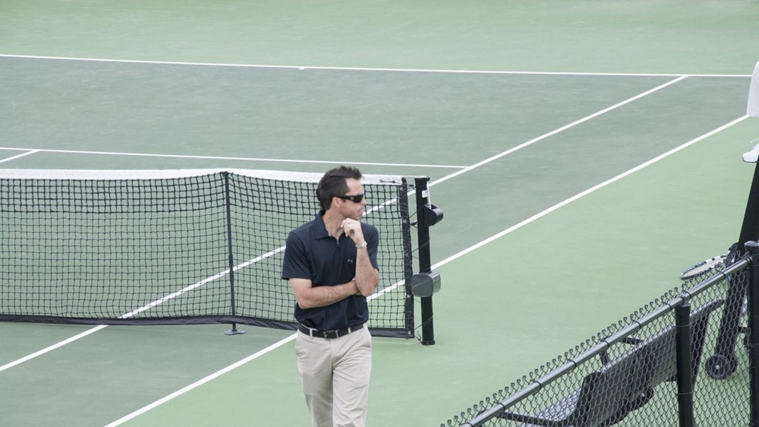 Men's tennis coach Josh Goffi was named the SEC's Coach of the Year last week.