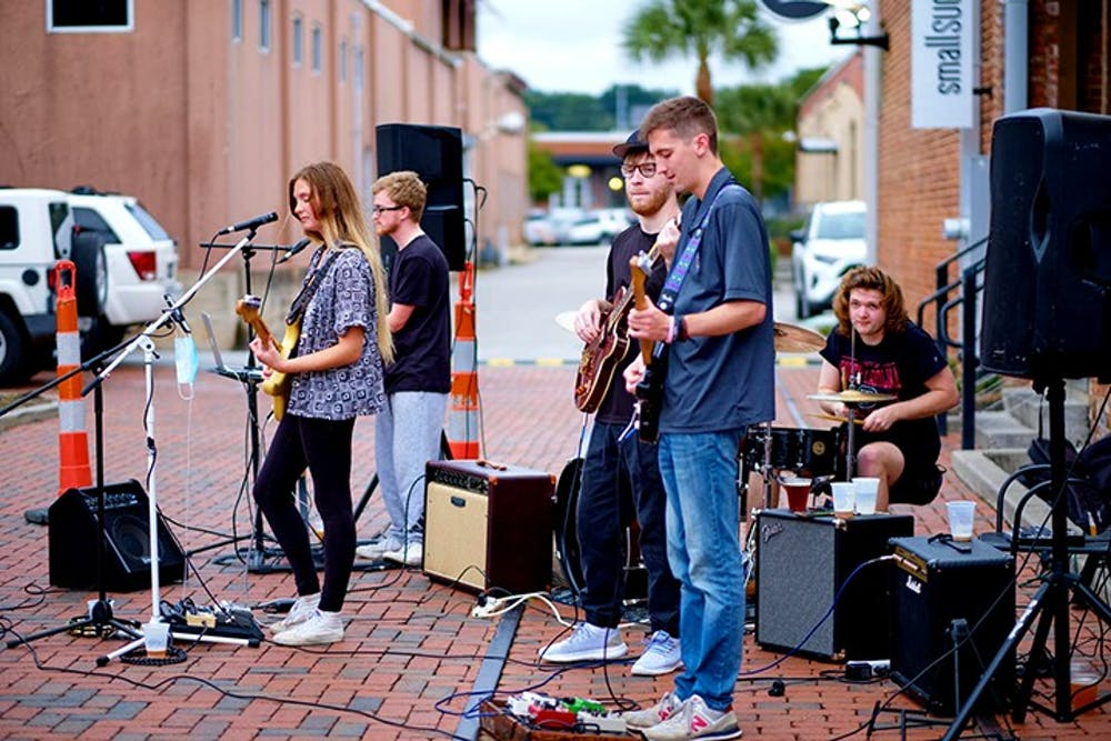 Outer Ego performs an outdoor show at Twisted Spur Brewing in September 2020. The band will be performing again at Twisted Spur Brewing on Nov. 20 and at Market on Main on Dec. 10.
