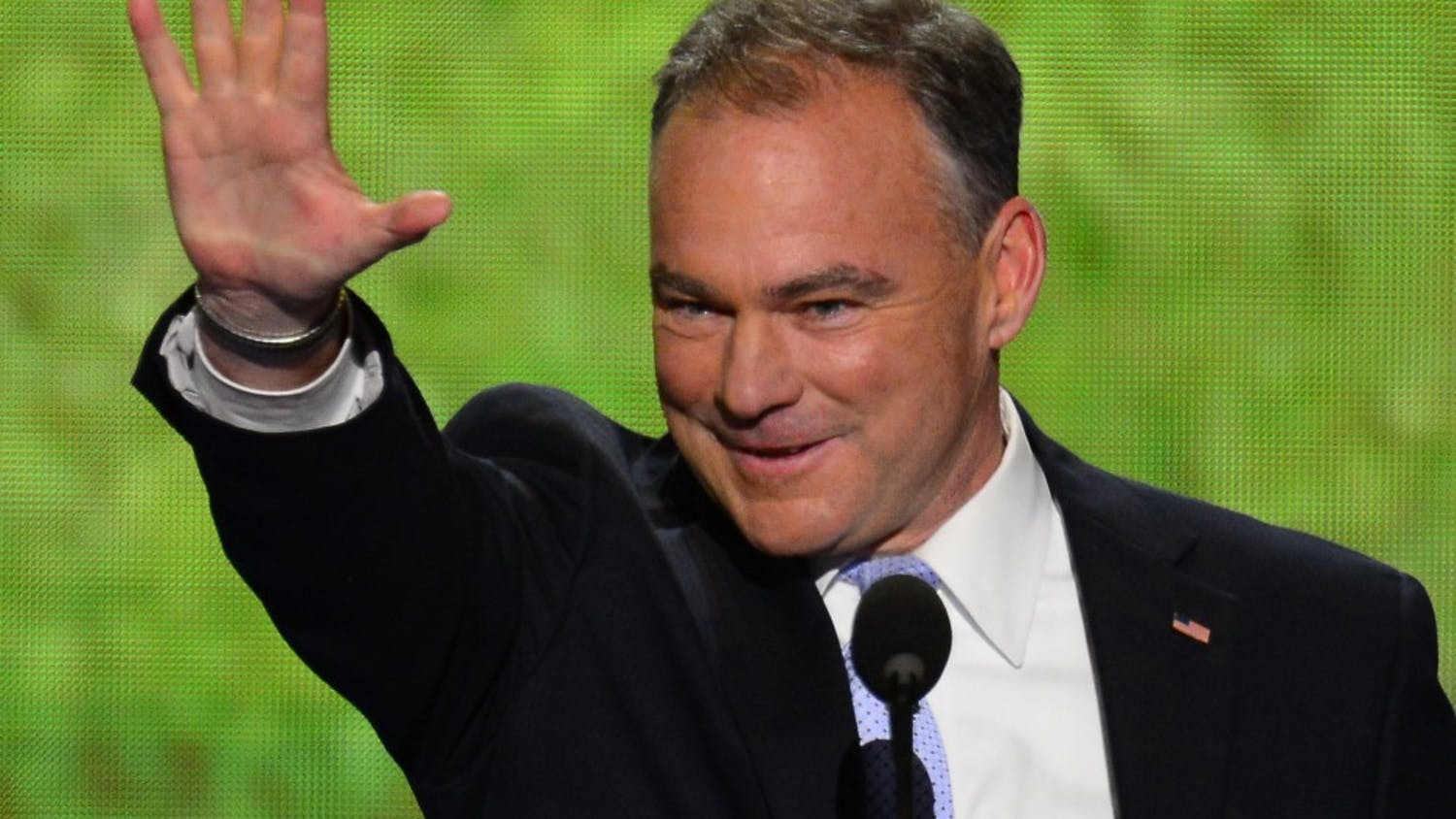Former Virginia Governor Tim Kaine speaks at 2012 Democratic National Convention at the Time Warner Cable Arena in Charlotte, North Carolina, Tuesday, September 4, 2012. (Harry E. Walker/MCT)