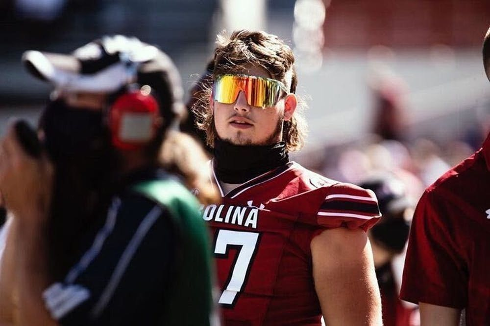 "Gavin Bennett, a former member of the Gamecock football team, was recently given the title of ""best mullet at USC"". Bennett is known for having many different hair styles."