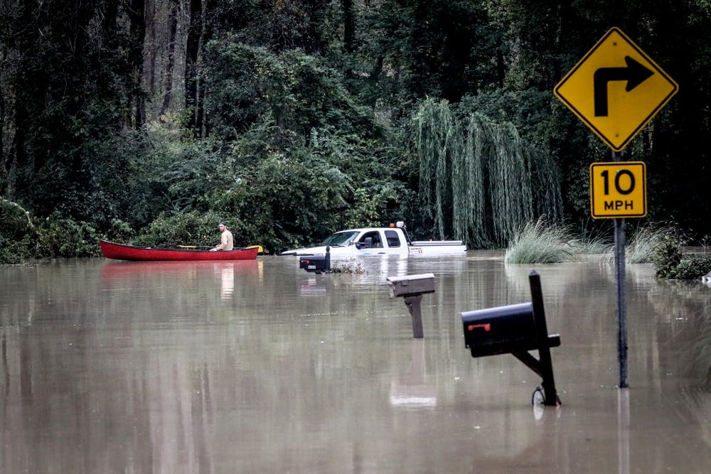 <p>Rescue crews from across the country work to help those in need after rain and flood water ravaged the Columbia, South Carolina, area on Oct. 4, 2015.</p>