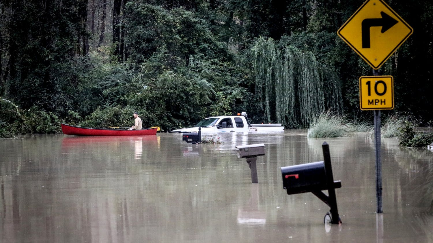 Rescue crews from across the country work to help those in need after rain and flood water ravaged the Columbia, South Carolina, area on Oct. 4, 2015.