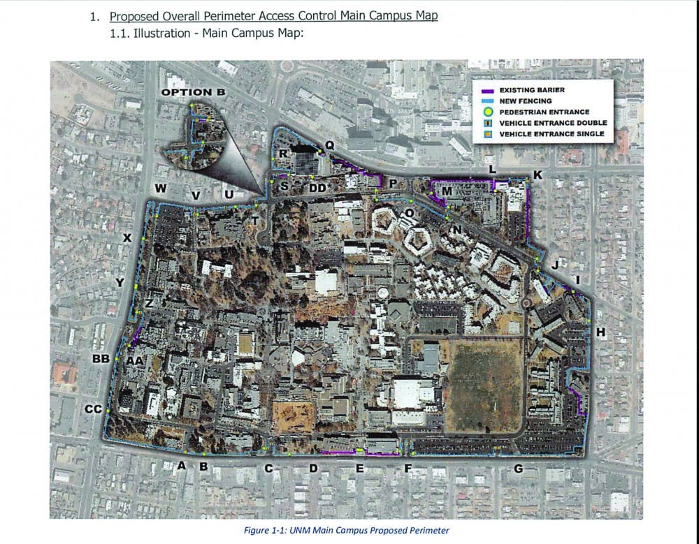 UNM: Border fence around campus? Not so fast - New Mexico ...
