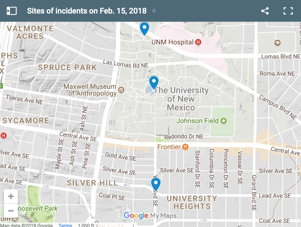 Campus Map Unm.Gunman Arrested After Incidents At Duck Pond And Near Campus New