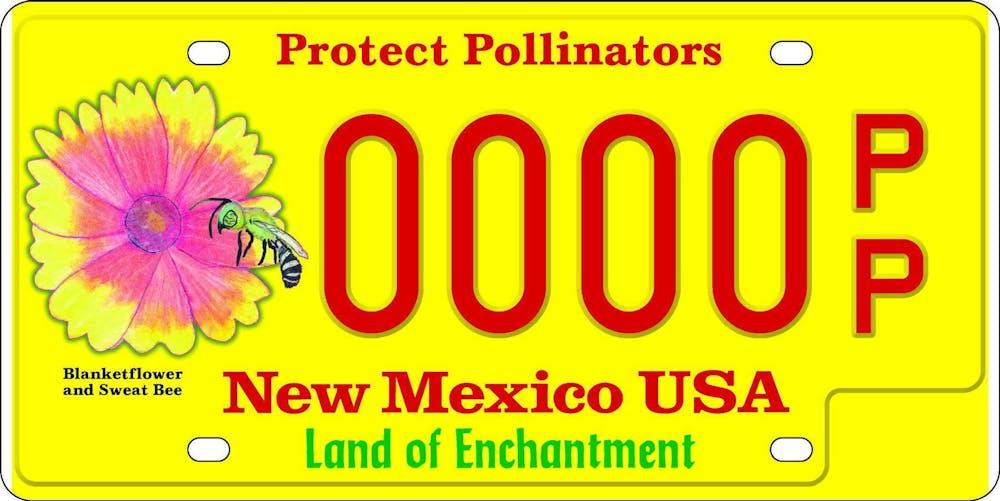 pollinator-license-plate