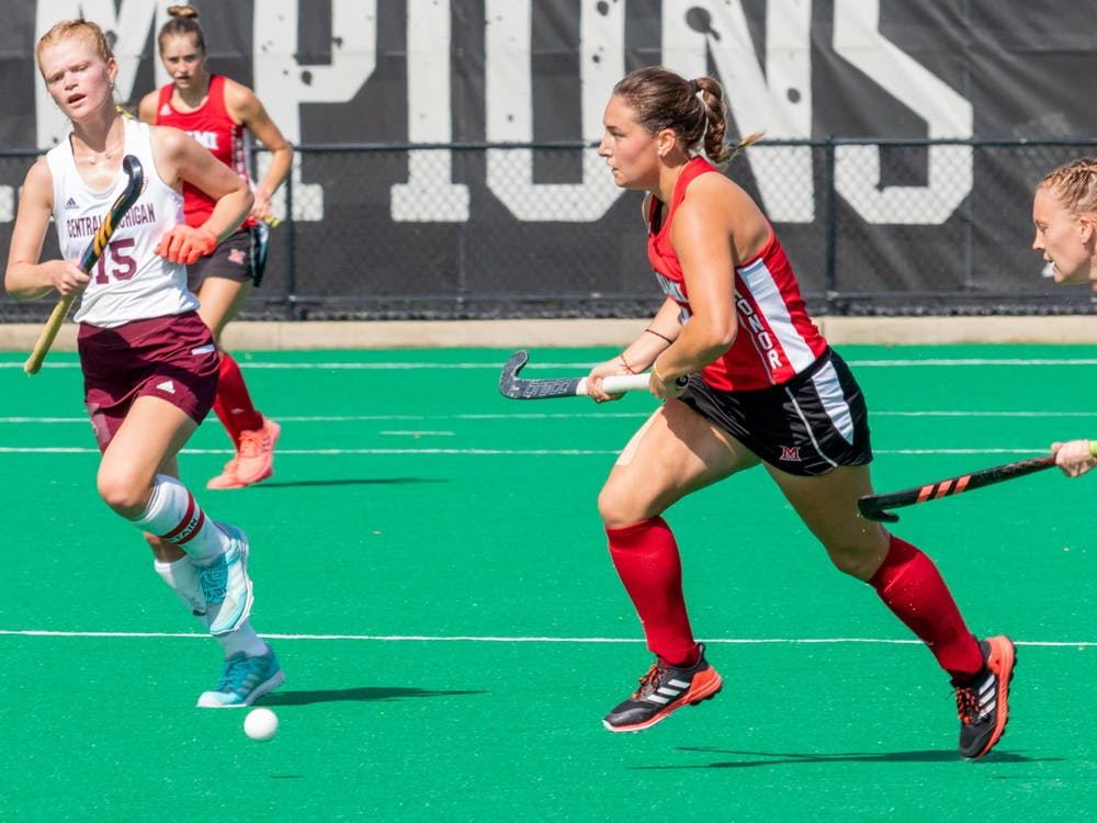 <p>Miami defeated Central Michigan 4-3 to remain undefeated in Mid-American Conference (MAC) play.</p>