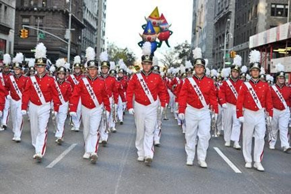 <p>Despite the transition to being online, the marching band hasn&#x27;t lost the pep in their step.</p>