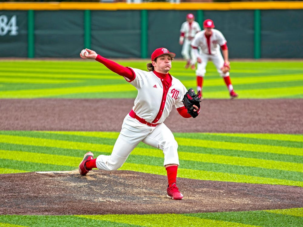 Jack Corbell delivers a pitch during his senior season in 2019. He graduated last May, leaving a hole in the starting rotation the RedHawks are trying to fill.