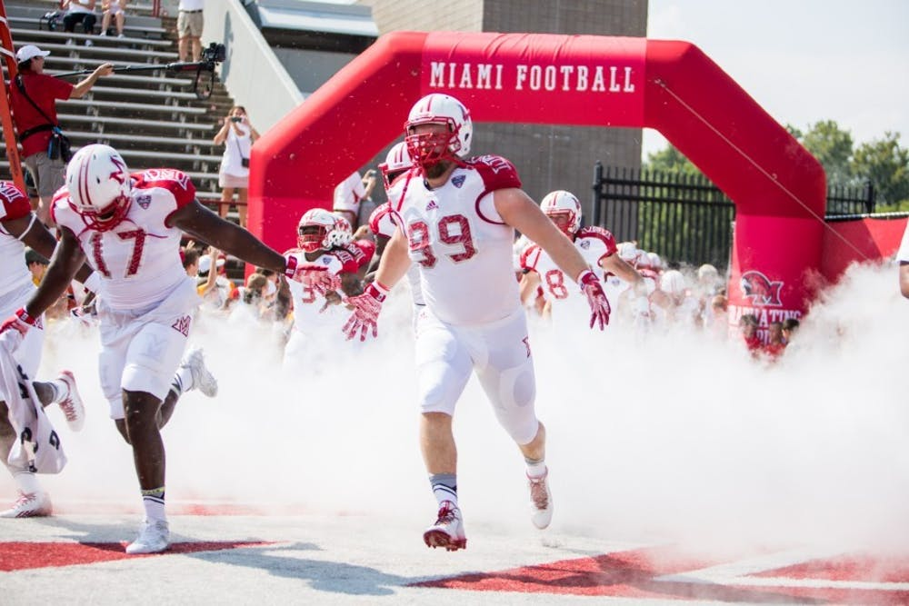 The Redhawks hosted Presbyterian as their season opener and dominated the second they marched on the field.