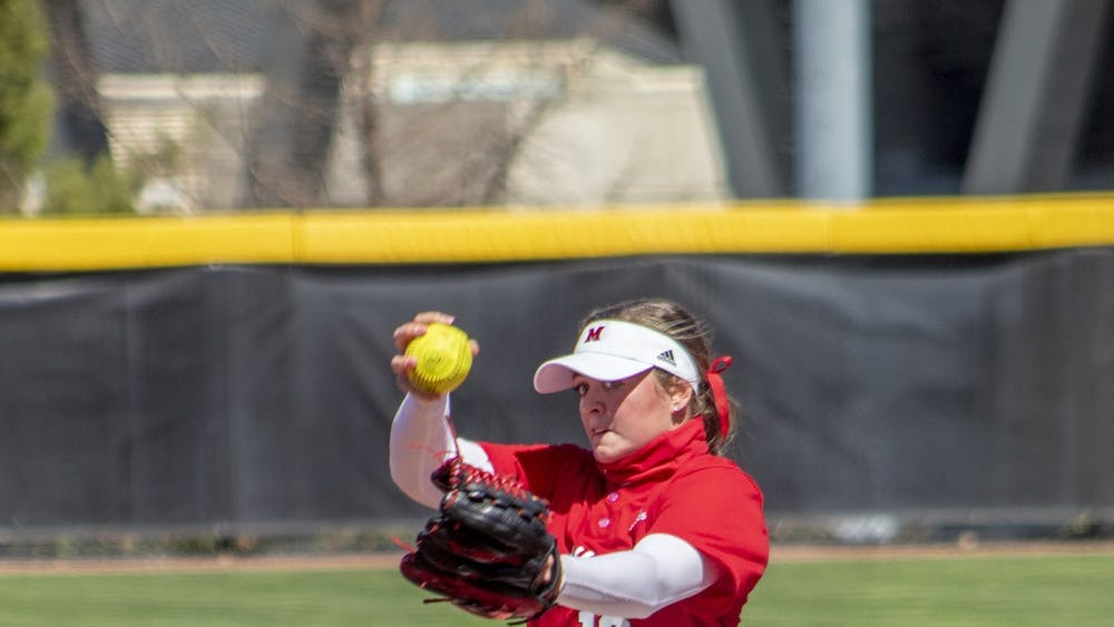 Senior pitcher Courtney Vierstra now has three starts in which no hits were given up this season