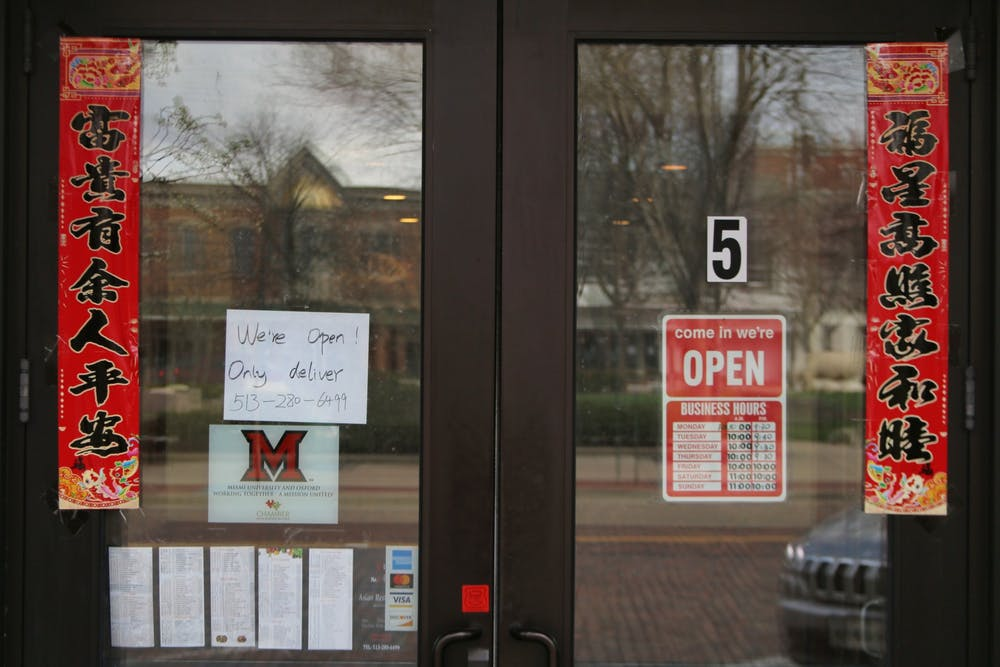 <p>Since students have mostly left campus in the wake of the novel coronavirus pandemic, Oxford to You is depending on residents to help keep local restaurants afloat.</p>