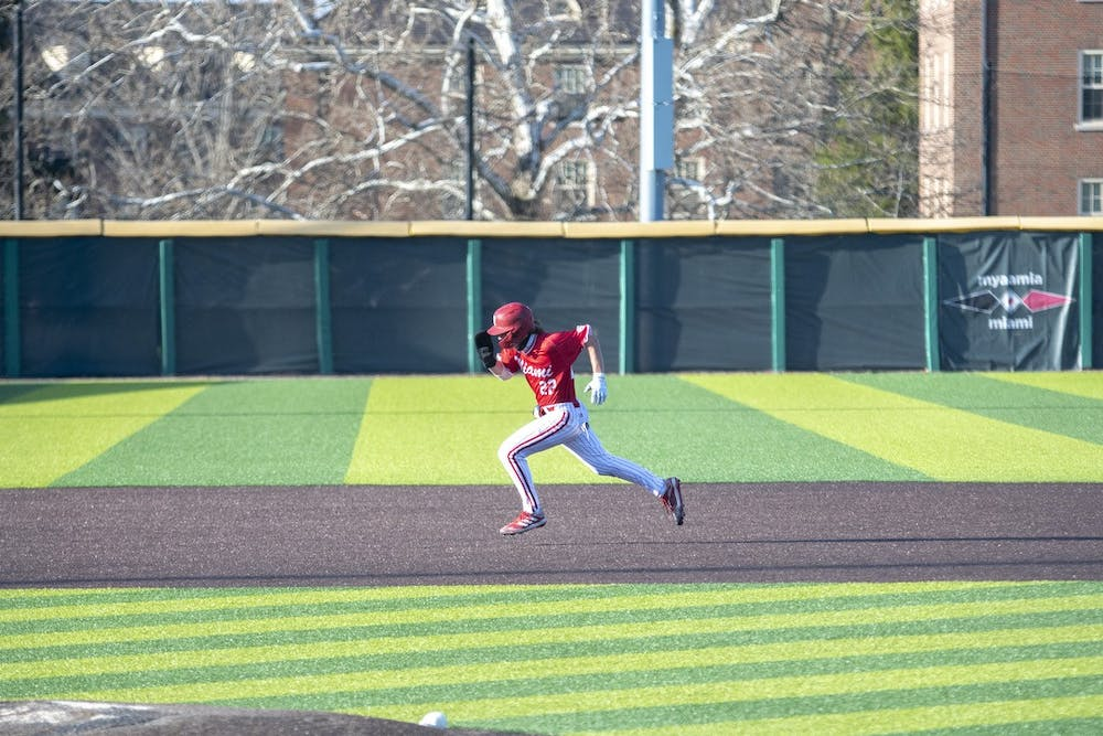 <p>Miami earned its first series sweep of the season, beating Eastern Michigan four times in four games.</p>