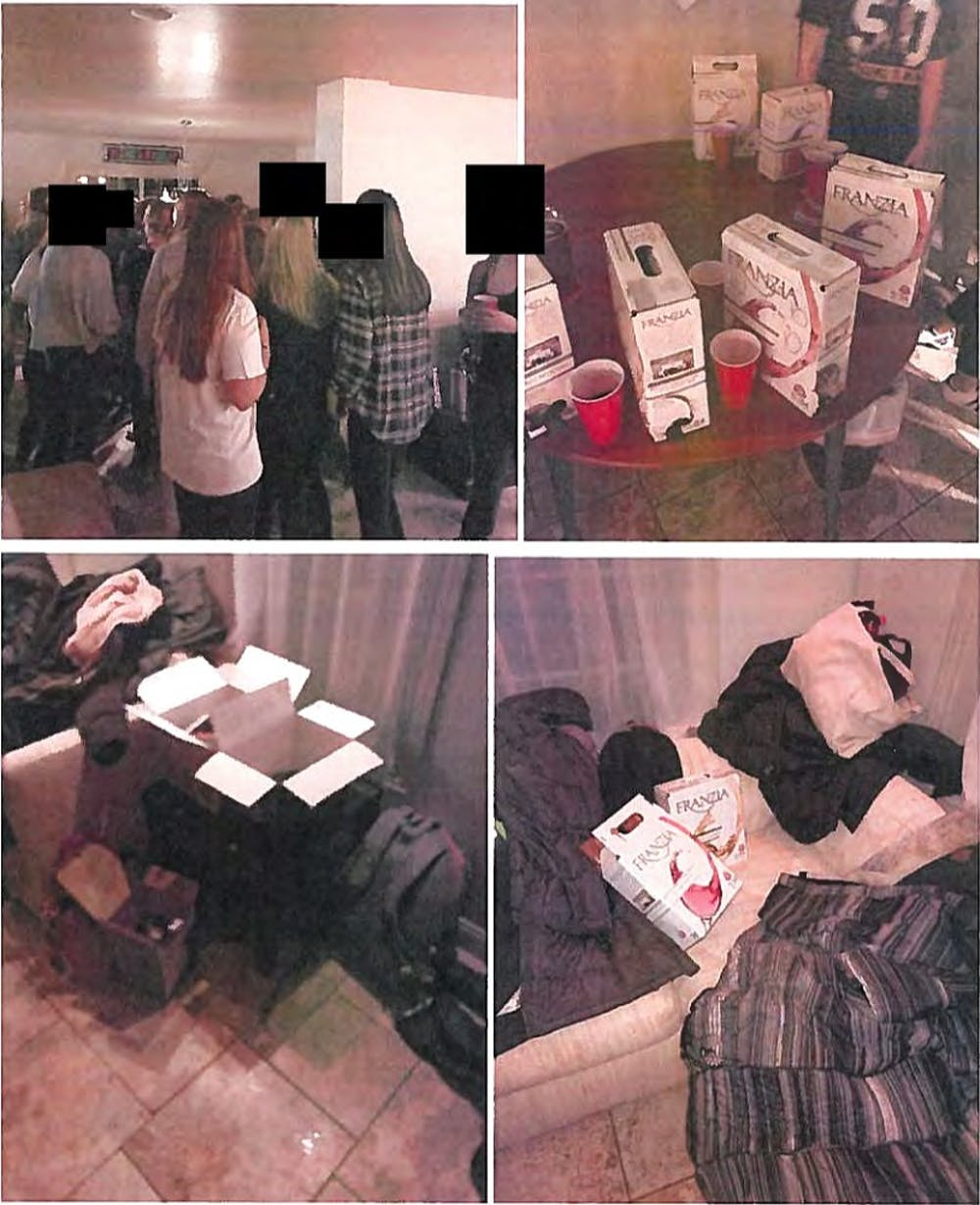 Photos attached to redacted report about the Feb. 10 Phi Mu report.