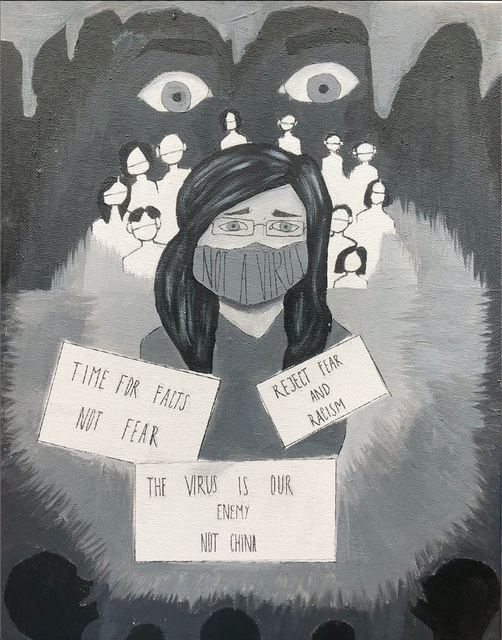 Miami students and alumni see the spike in hate crimes as a symptom of a media that doesn't meaningfully address anti-Asian racism and its significance in American society. Graphic by Kayla Lynskey.