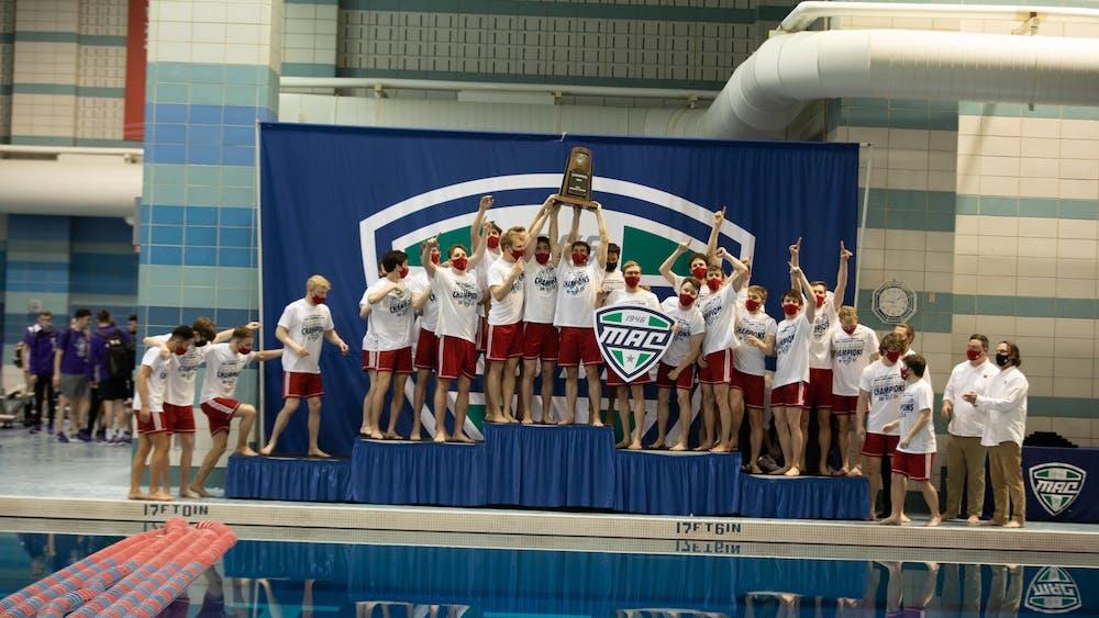 2021 MAC Mens Swimming Championships - photo by Anna Kramig