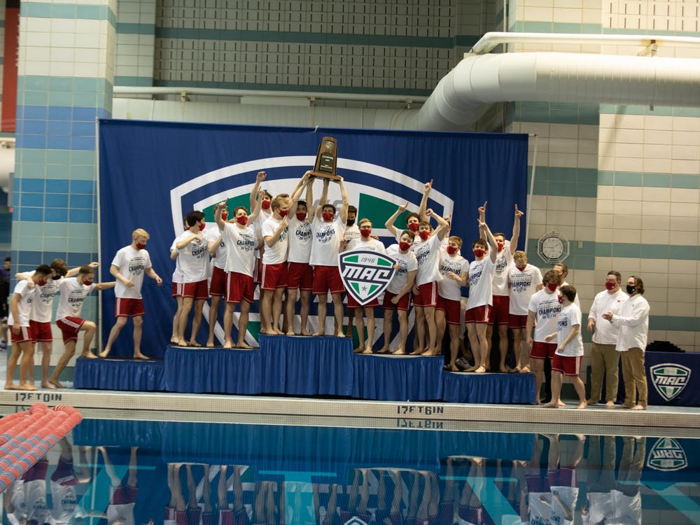 2021 MAC Mens Swimming Championships - photo by Anna Kramig