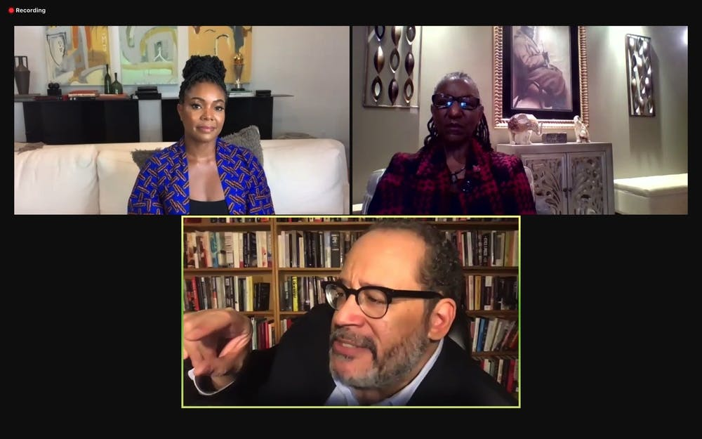 <p>Actress and activist Gabrielle Union (top left) and Dr. Michael Eric Dyson (bottom) discussed several topics involving injustice for Black Americans ranging from police brutality to racism in academia. </p>