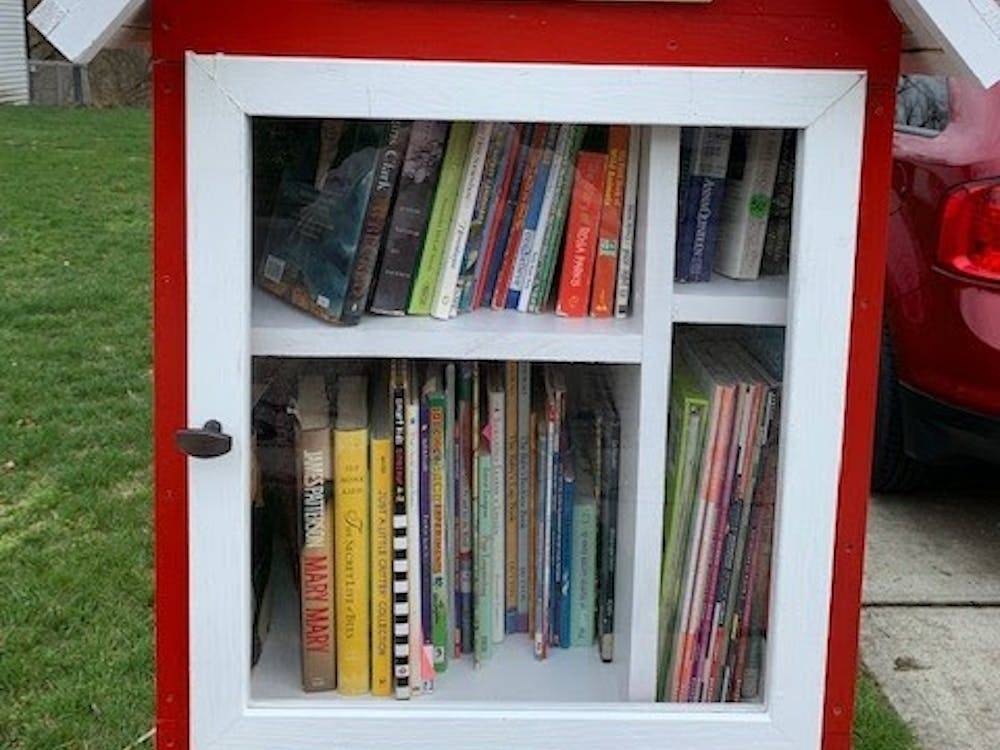 Trying to keep a sense of community during the pandemic, one Oxford resident has created a little library in front of his home.