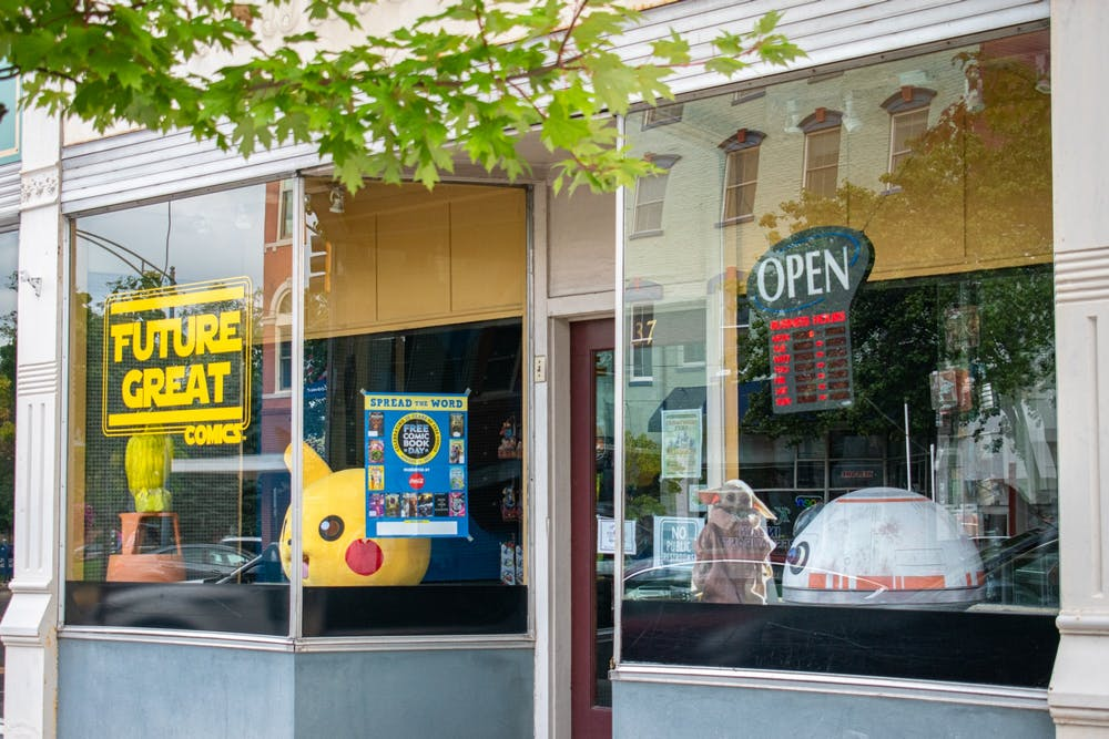 <p>Brian LeVick, Future Great Comics owner, said despite the reduced number of students during the summer, the store has been doing well.</p>