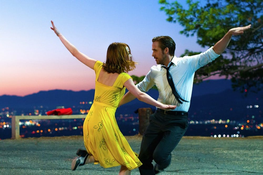 """Emma Stone and Ryan Gosling show off their tap-dancing skills and crackling chemistry in """"La La Land."""""""