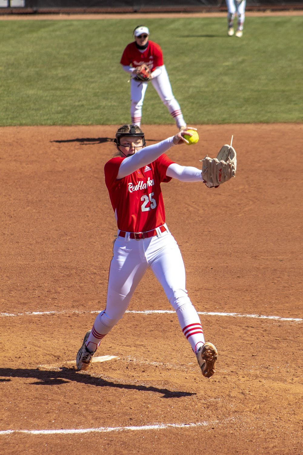 <p>Freshman pitcher Taylor Turner winds up for a pitch during Miami&#x27;s four-game sweep vs. Western Michigan.</p>