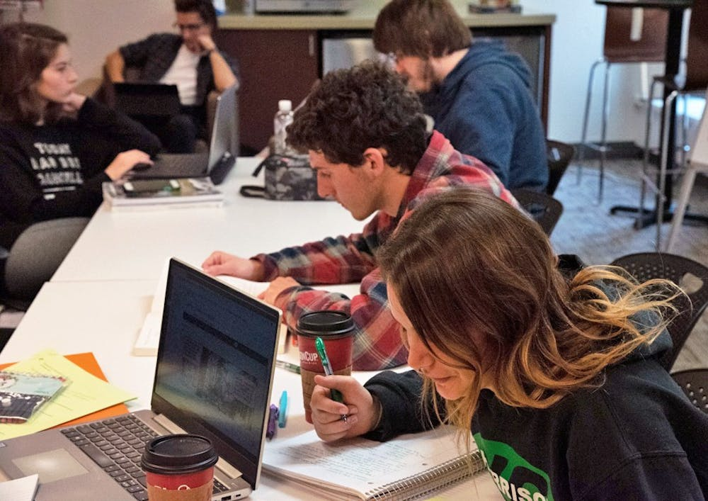 <p>The Commuter Center provides a space for students to study and hang out.</p>