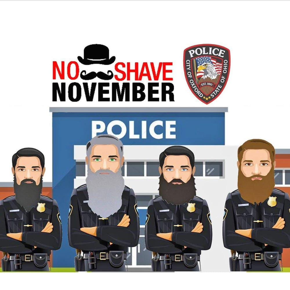 <p>For No-Shave November this year, OPD raised funds and grew facial hair. </p>