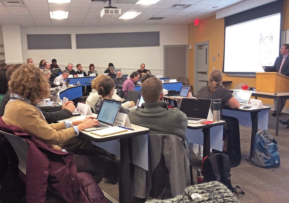 <p>University senate voted to dissolve the Department of Classics and to separate kinesiology and SLAM. </p>