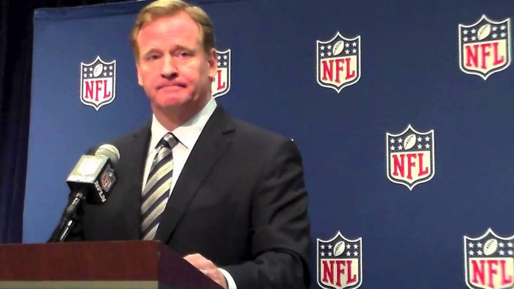 NFL commissioner Roger Goodell announces the first-round picks at each NFL draft.